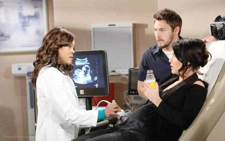 Liam, Steffy and Dr. Phillips on The Bold and the Beautiful