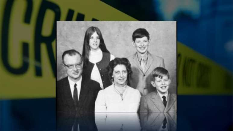 John List with his family, before he shot them all dead