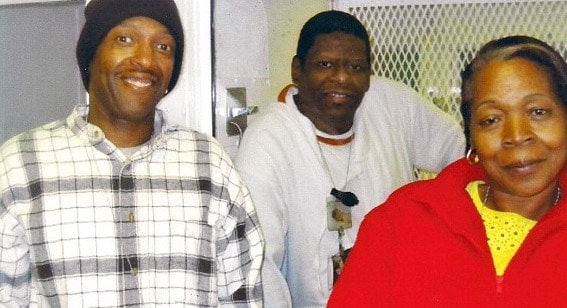Rodney Reed seen here with his brother and mother