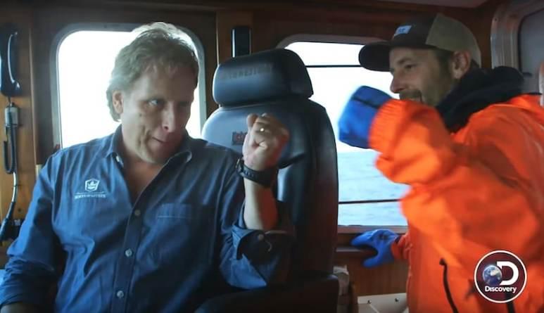 Sig Hansen fist-pumps in celebration on Deadliest Catch