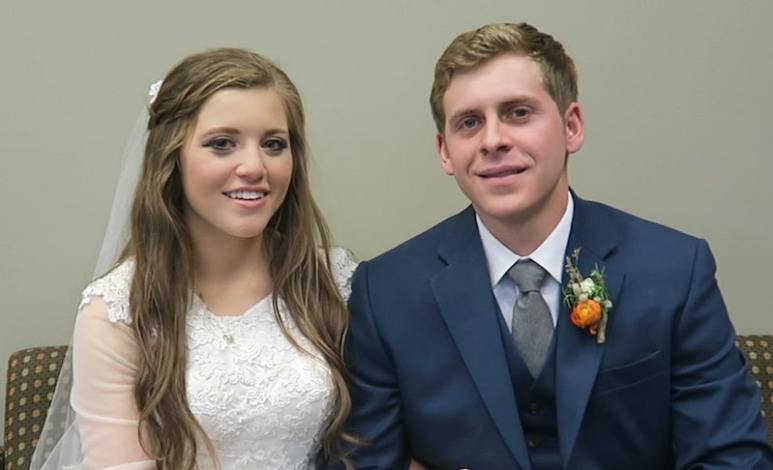 Joy-Anna Duggar and Austin Forsyth on their wedding day