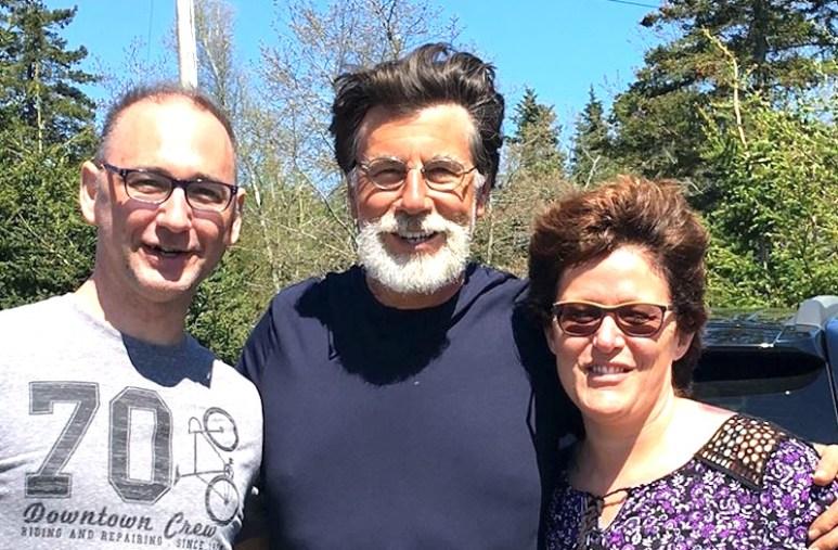 Rick Lagina with newlyweds Bernard and Natalie Rousselle on Oak Island