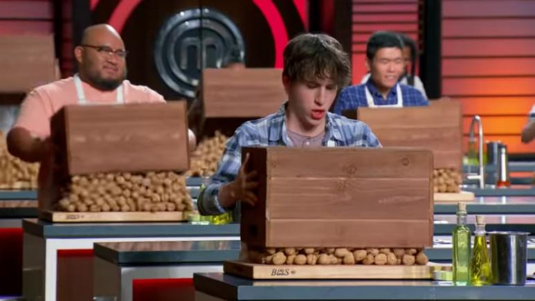 Top 19 MasterChef home chefs learn the mystery box challenge is walnuts