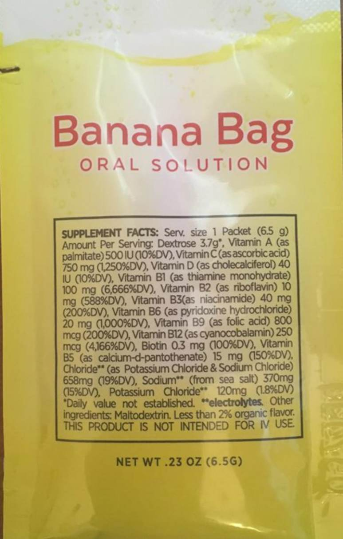 Banana Bag Oral Solution ingredients list