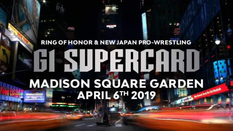 Ring of Honor and New Japan holding G1 Supercard at Madison Square Garden on WrestleMania weekend