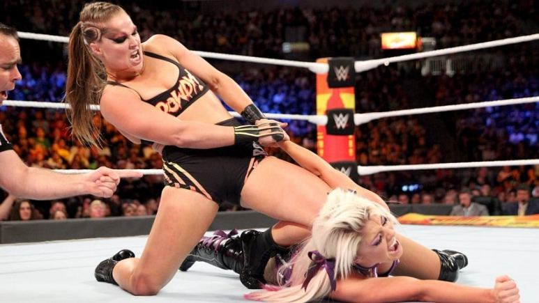 Bliss submits to Rousey.