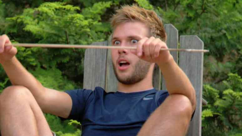 Chase Chrisley while camping with his family
