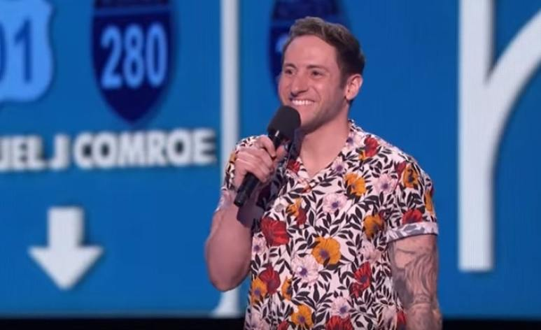 Samuel J. Comroe performing on America's Got Talent