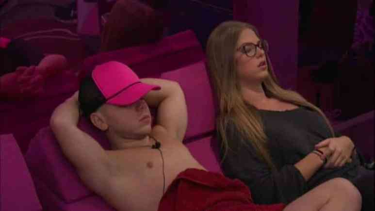 JC and Haleigh in bed in the Big Brother house