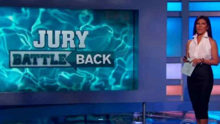 Julie Chen announcing the jury battle back last week