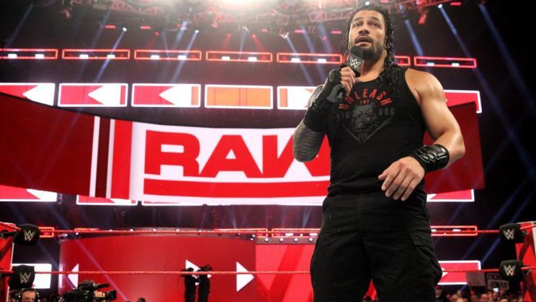 Roman Reigns on WWE Monday Night Raw