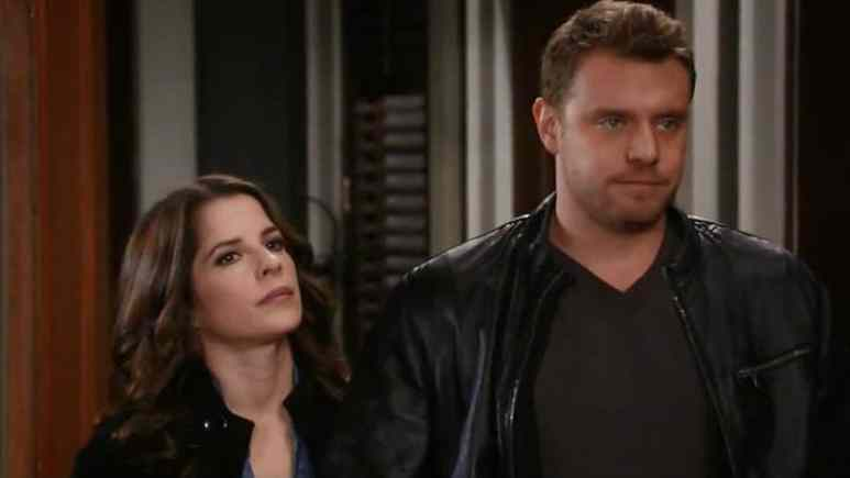 Kelly Monaco and Billy Miller on General Hospital