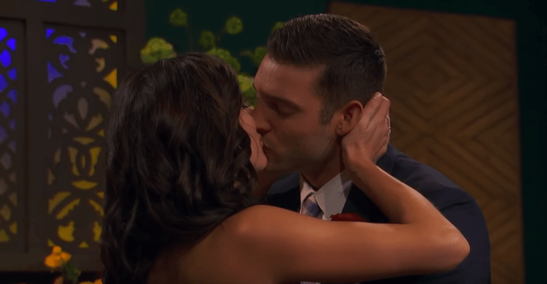 Garrett and Becca kissing on The Bachelorette