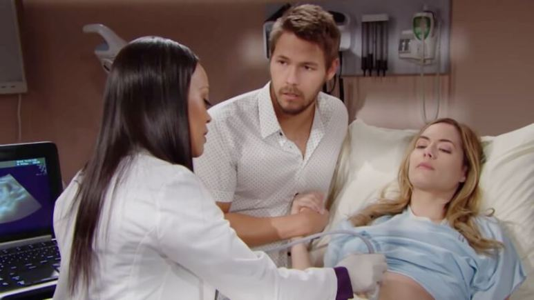 Hope and Liam pay a visit to Dr. Phillips on The Bold and the Beautiful