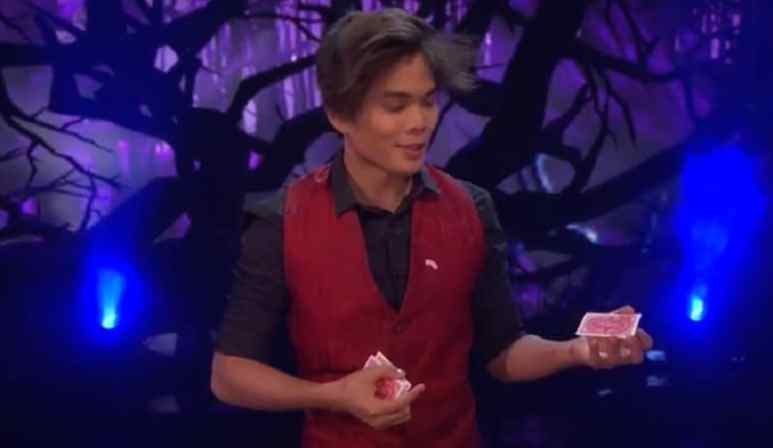 Shin Lim performs during America's Got Talent semifinals