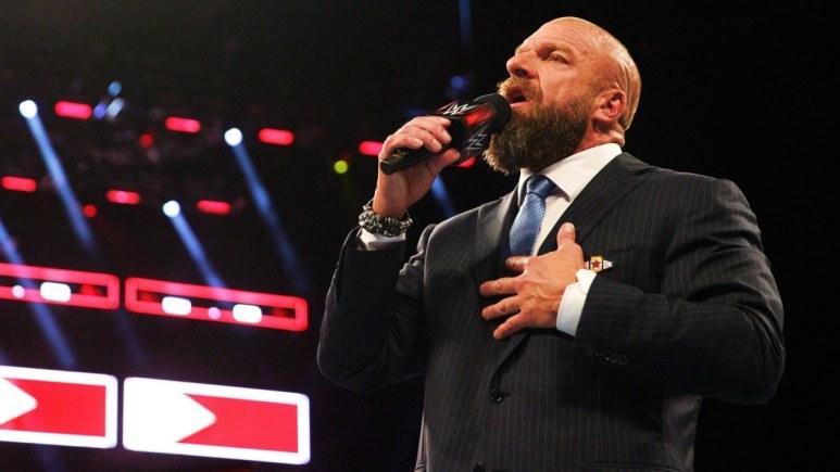 Triple H on WWE RAW