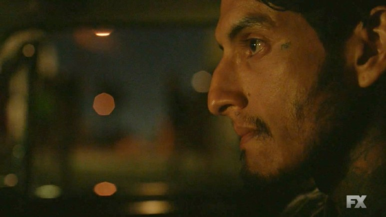 Still image from Mayans M.C. Escorpión/Dzec. Coco (Richard Cabral) seeks out his mother to discuss the troubling knowledge he has on his sister. Pic credit: FX