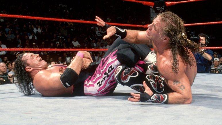 Bret Hart Wrestles Shawn Michaels.