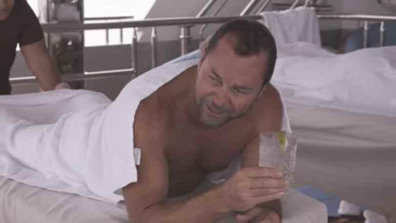 Alan Miller gets an interesting massage aboard the My Sienna on Below Deck