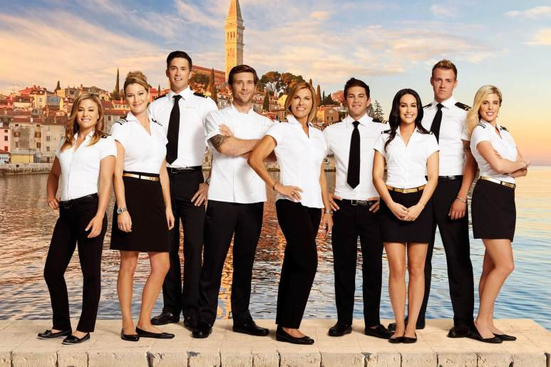 Below Deck Mediterranean Season 4, image shows the cast standing in a harbour
