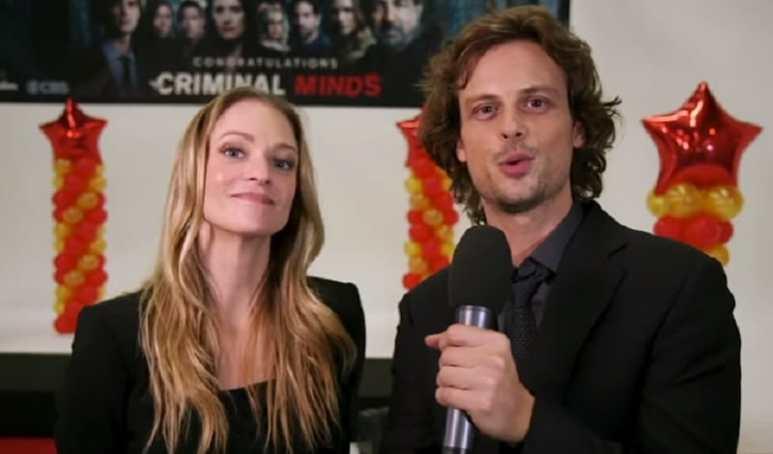 Matthew Gray Gubler and A.J. Cook on Criminal Minds