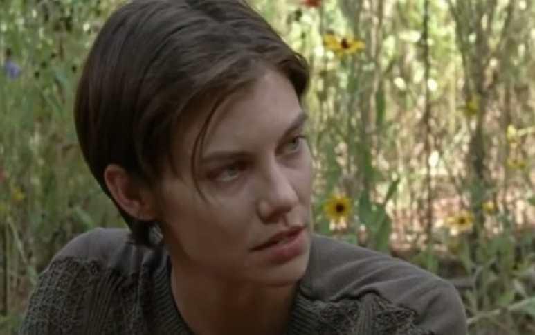 Lauren Cohan as Maggie Greene in an episode of The Walking Dead