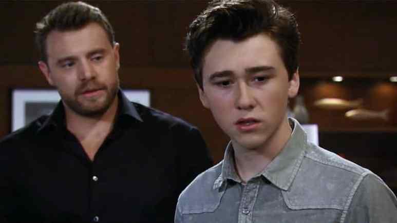 Billy Miller and Garren Stitt as Drew and Oscar on General Hospital