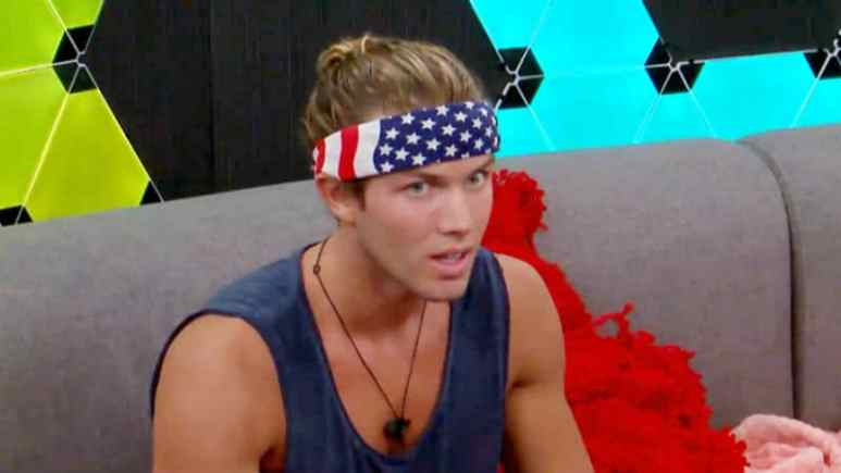 Tyler Crispen from Big Brother 20 while in the Big Brother house