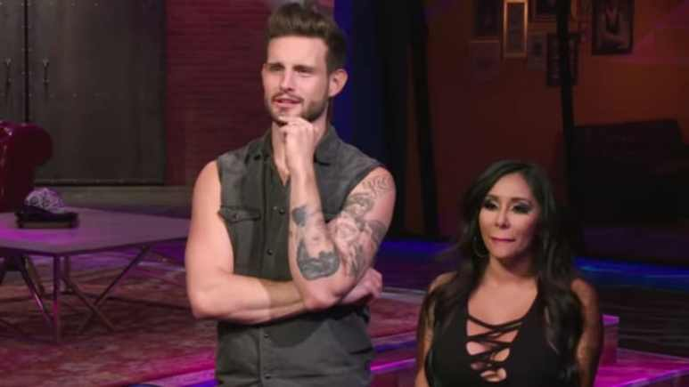 Nico Tortorella hosts How Far Is Tattoo Far? with Nicole 'Snooki' Polizzi. Pic credit: MTV