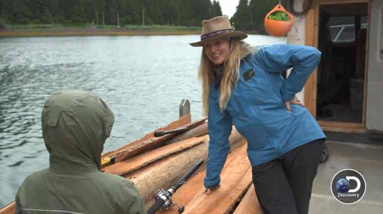 The prodigal daughter returns: Jewel and Kase go fishing. Pic credit: Discovery