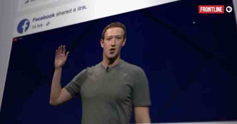 Zuckerberg's ascendancy into megawealth has cost millions of people in lost privacy according to filmmakers Pic credit: PBS/Frontline