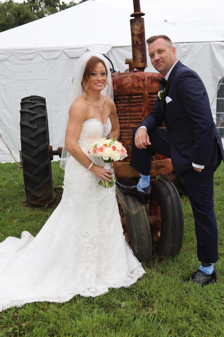 AJ Voelmiller and Stephanie Sersen on their MAFS wedding day. Pic credit: Terrance Harrison