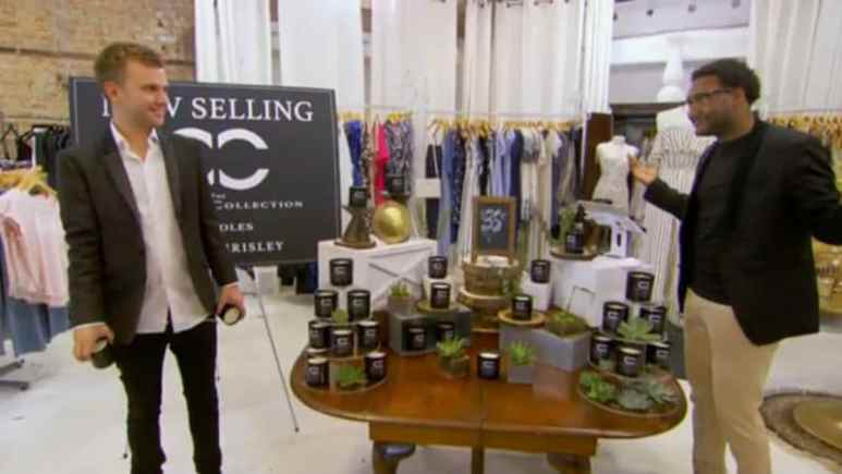 Chase Chrisley and Ronndell Smith at the candle pop-up shop