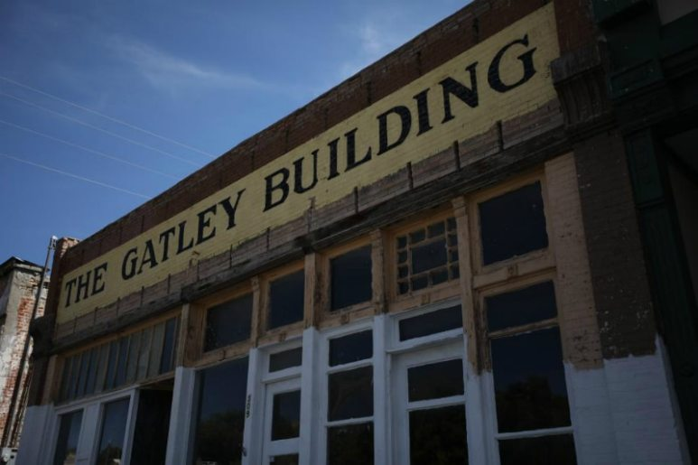 The Gatley Building still stands but locals say the building contains a 'dominating' force. Pic credit: Travel Channel