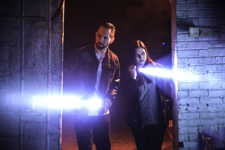 Nick Groff and Katrina Weidman in Paranormal Lockdown Season