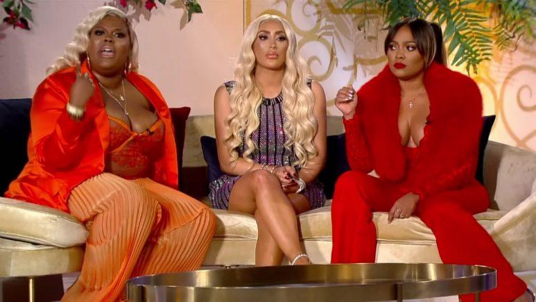 Paris Phillips, Nikki Mudarris and Teairra Mari at the Love & Hip Hop: Hollywood Season 5 reunion