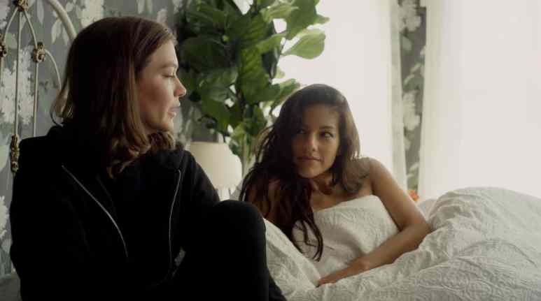 Etta (Hannah Gross) is in a passionate relationship with Lana (Tracy Perez). Pic credit: Shudder
