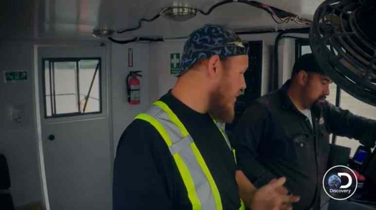 Juan is over this boat ride and tells Mike the bad news, then Mike tells him more bad news. Pic credit: Discovery