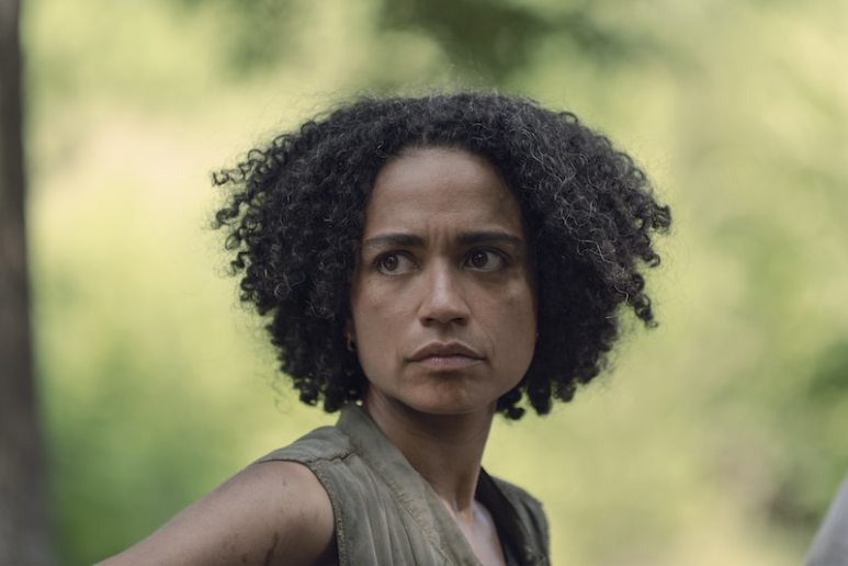 Lauren Ridloff as Connie - The Walking Dead _ Season 9, Episode 6 - Photo Credit: Gene Page/AMC
