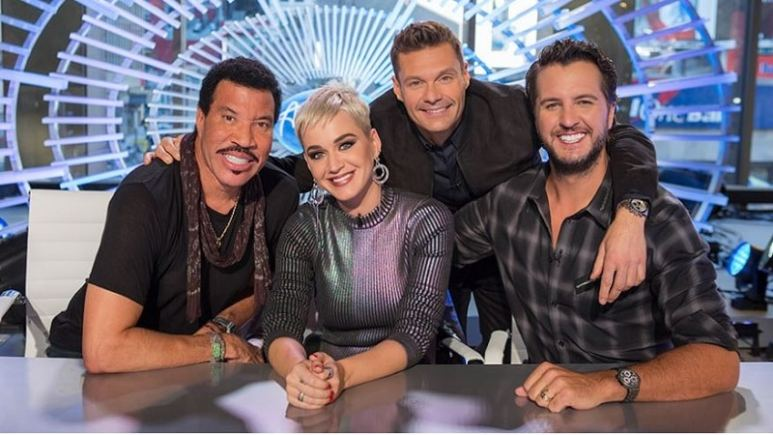 America Idol Luke Bryan, Lionel Richie, Katy Perry