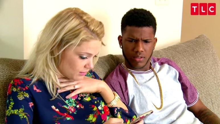 Ashley and Jay were shocked by the racist comments on their wedding registry on 90 Day Fiance. Pic credit: TLC