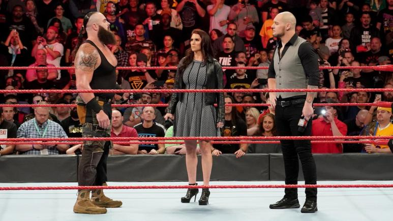 Standing up to Baron Corbin in the ring