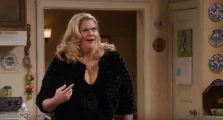 Kristen Johnston as Tammy on a new episode of Mom
