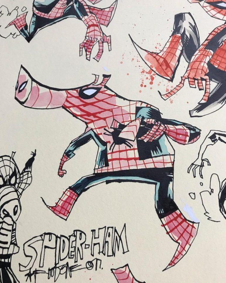 Mahfood Spider-Verse Designs Spider-Ham