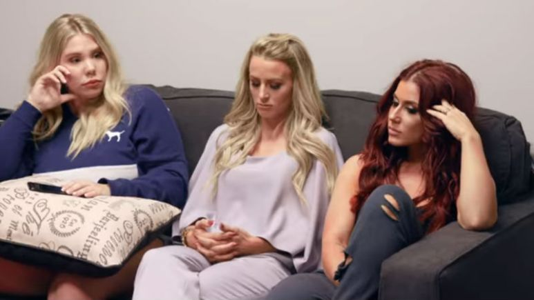 Kailyn Lowry, Leah Messer, Chelsea Houska at the Teen Mom 2 reunion