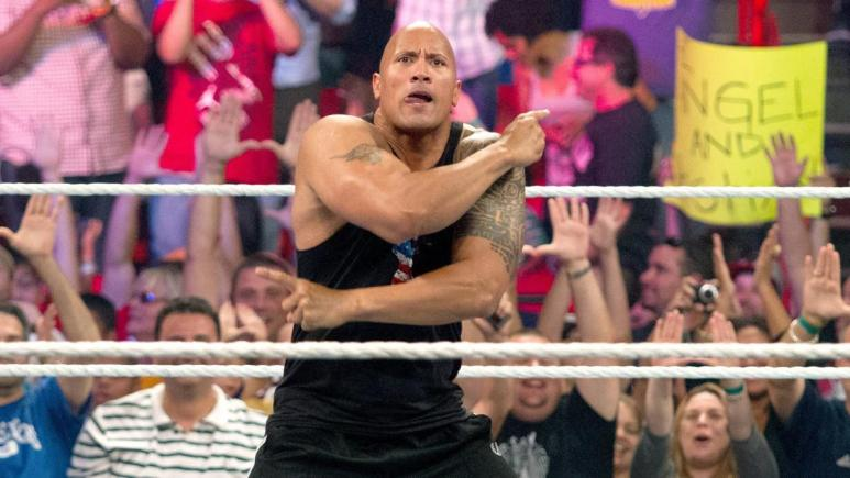 The Rock builds up the WWE crowd