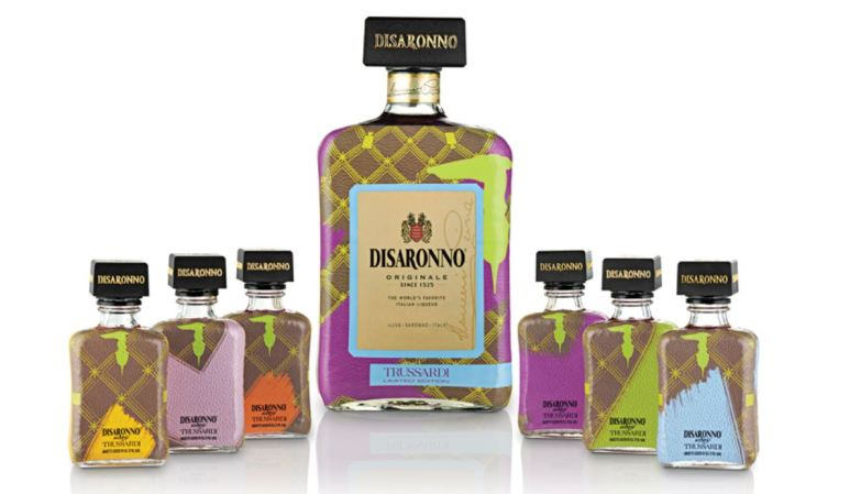 DiSaronno has released Trussardi decorated bottles for the holidays! Pic credit: DiSaronno