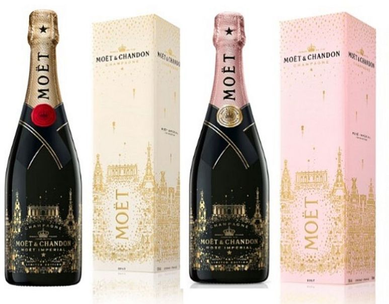 Moet has the new holiday limited edition bottles and they are stunning ready-made gifts ready to give, easy! Pic credit: Moet & Chandon