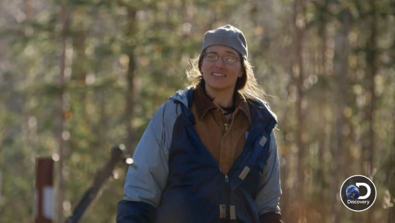 In this week's clip, we see Talicia revisiting Bob's cabin with her mum Nancy. Pic credit: Discovery