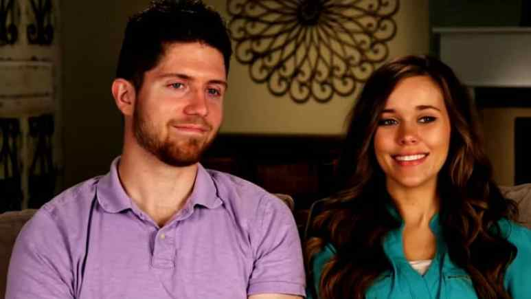 Ben Seewald and Jessa Duggar in a TLC confessional